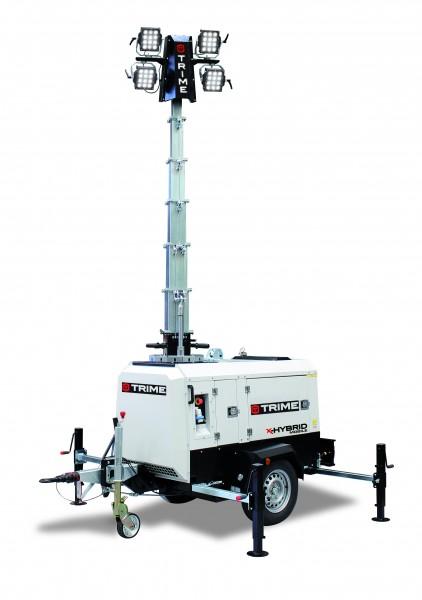 Flutlichtmast X-Hyprid mobil 4x150 Watt LED