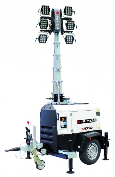 Mobiler Lichtmast X-ECO 6 x 160 Watt LED Beleuchtungsfläche 4.200 m²