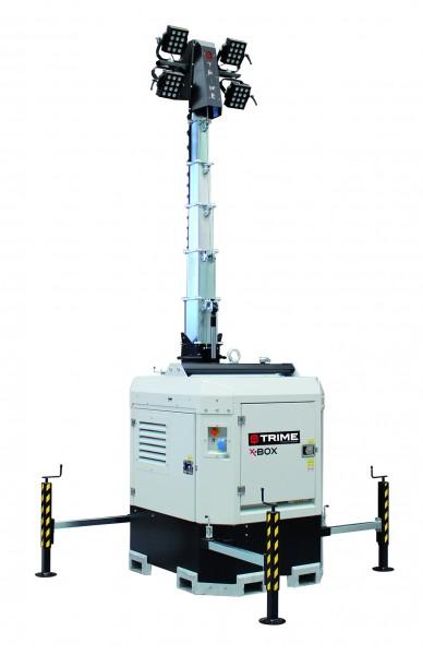 Flutlichtmast | Mobiler Lichtmast X-Box 4x160 Watt LED