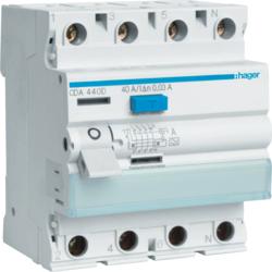 Fi-Schutzschalter 4P 6kA 100A 30mA Typ A für Stromerzeuger und Stromverteiler