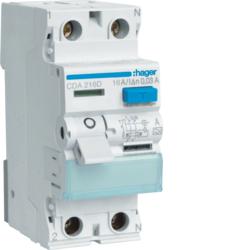 Fi-Schutzschalter 2P 6kA 16A 30mA Typ A für Stromerzeuger oder Baustromverteiler